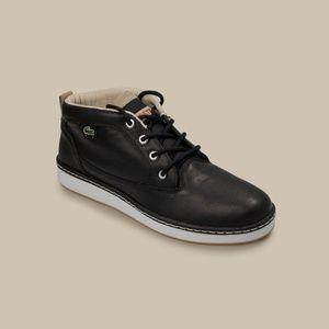 Lacoste Black Leather Casual Sneaker Men 11.5